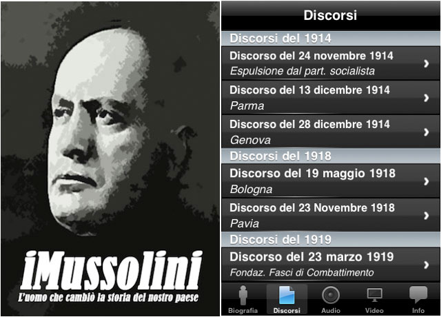 Mussolini iPhone