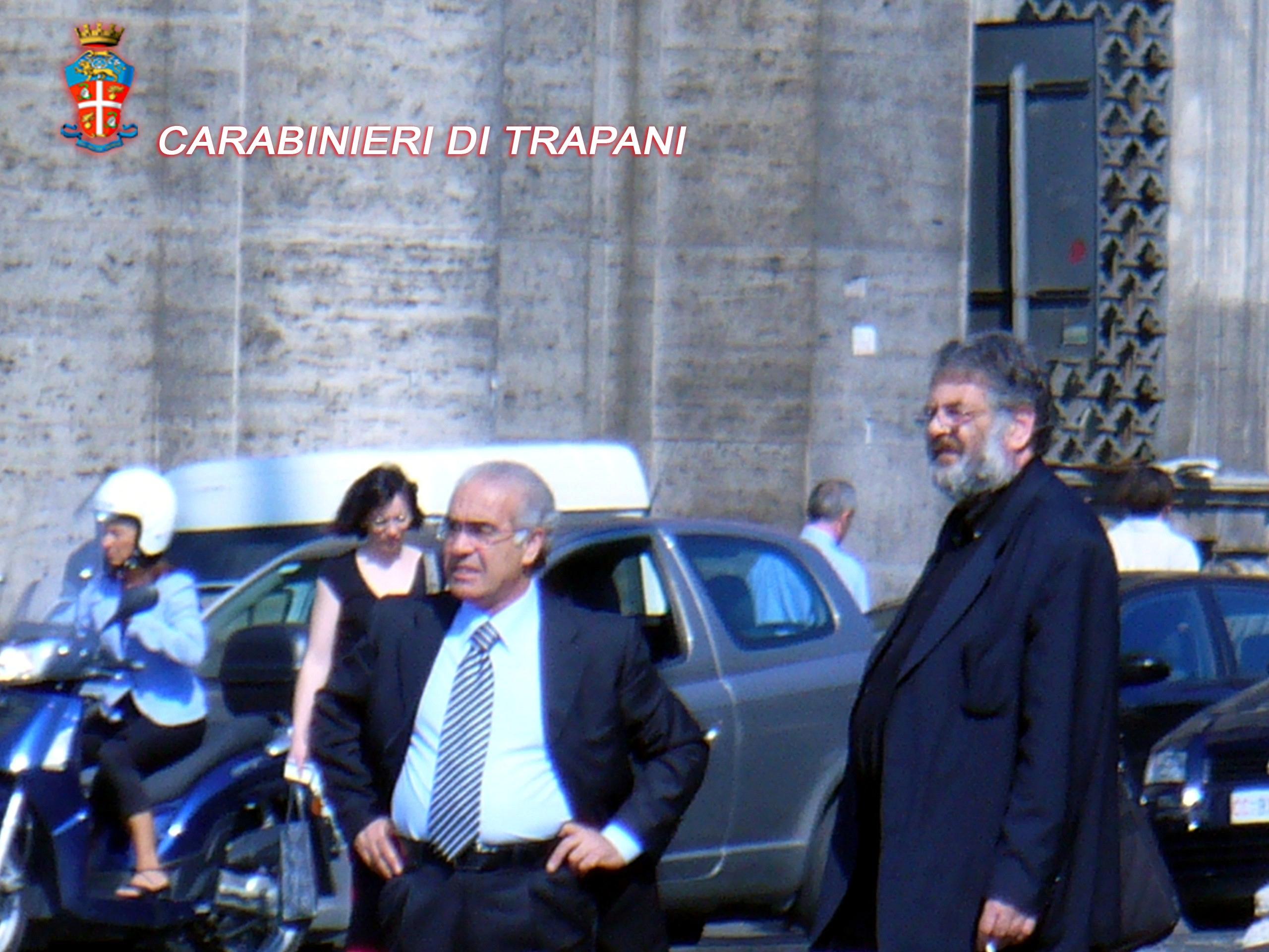nella foto a destra rodolfo grancini a sinistra l'imprenditore agrigentino calogero Licata