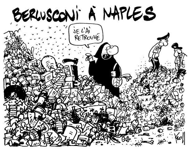 Vignetta apparsa sul quotidiano belga Le Soir