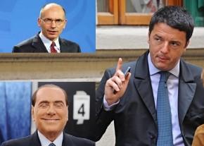 Renzi, Letta, Berlusconi:  il grande gioco a tre