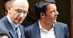 """Renzi e Letta,  la """"staffetta"""" che non c'e'"""