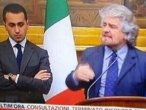 Beppe Grillo e i giovani a  Cinque Stelle