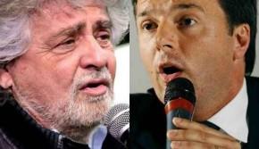 Grillo e Renzi,  il braccio di ferro per le europee
