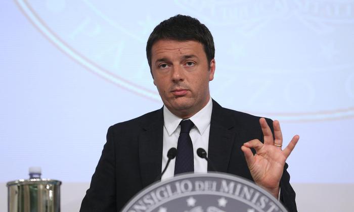 Italian Premier Matteo Renzi during a press conference in 'Palazzo Chigi', Rome, 13 June 2014. ANSA/ALESSANDRO DI MEO