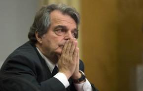 Renato Brunetta durante la conferenza stampa nella sala Aldo Moro della Camera dei deputati, Roma, 18 giugno 2014. ANSA/MASSIMO PERCOSSI