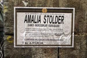 Funerali Amalia Stolder