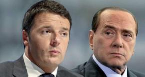Renzi, Berlusconi  e gli accordi possibili per il referendum