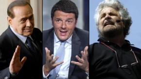 Renzi, Berlusconi, Grillo e la voglia di vittoria