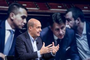 """Zingaretti e il rap di Matteo e Gigino: """"il governo non cadra', non cadra'…"""""""